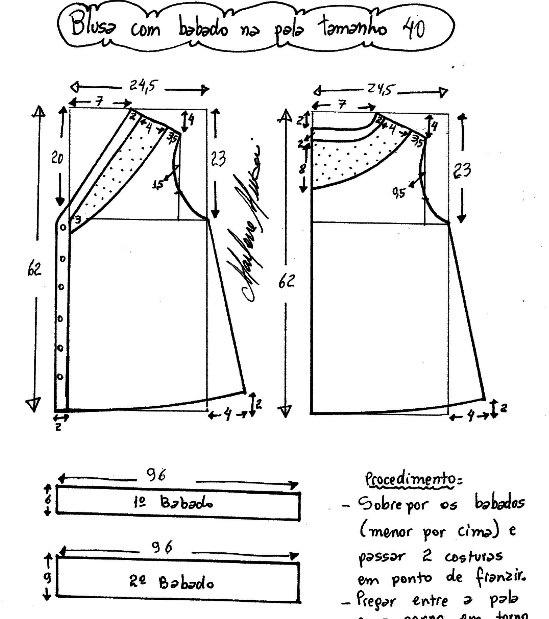 Как сшить блузку выкройки с размерами
