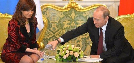 Российские СМИ: Путин поухаживал за Президентом Аргентины Кристиной Киршнер.