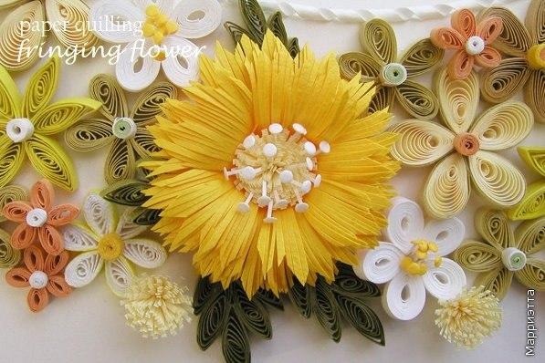 Квиллинг. Очень красивые цветы. Мастер-класс