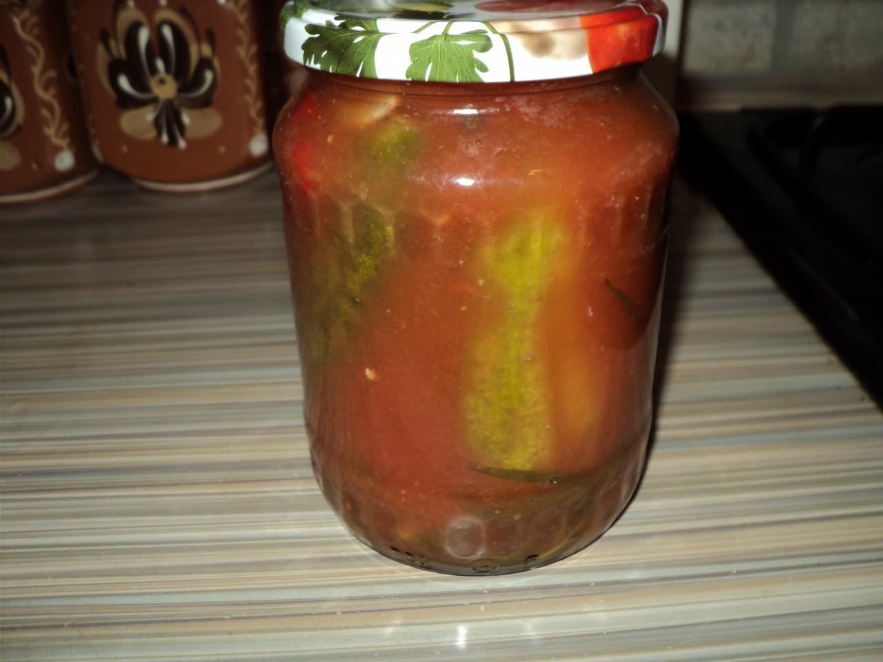 Салат из огурцов с томатным соком на зиму рецепты