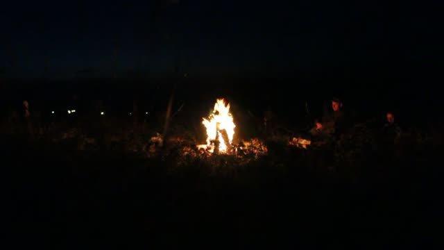 ночной костер в Старой Рязани