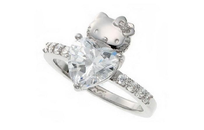 Для истинной любительницы Hello Kitty диза, кольцо, креатив