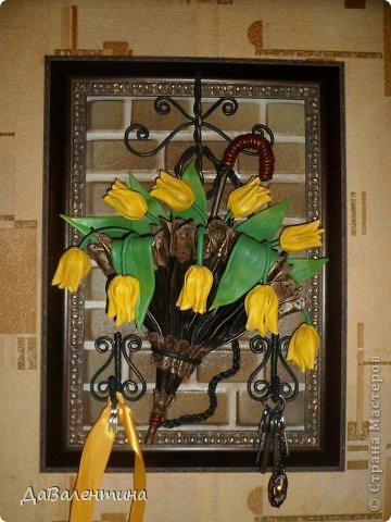 Ключница из кожи своими руками мастер класс тюльпаны