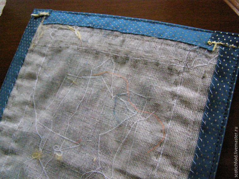 От чего стягивает ткань при вышивке