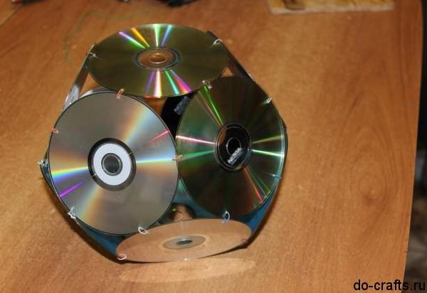 Как сделать шар из дисков своими руками