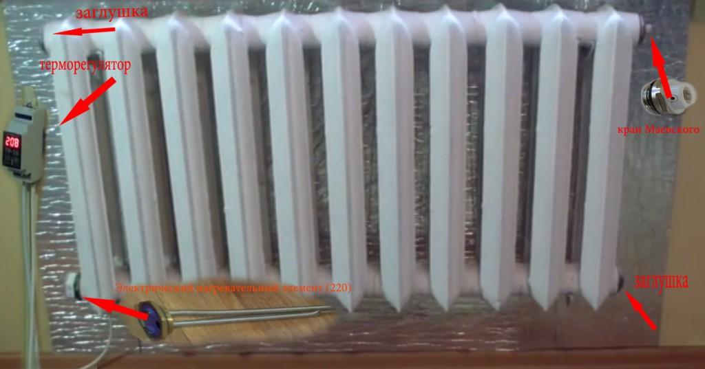 Как с чугунной батареи сделать электрообогреватель