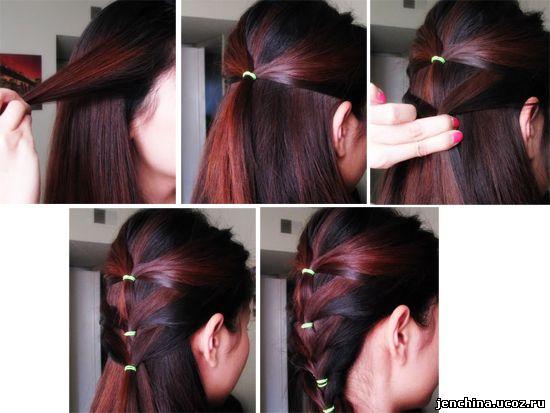Прически с волосами на заколках своими руками