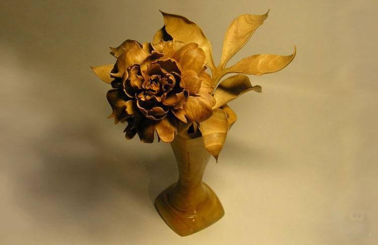 Цветок из дерева своими руками фото