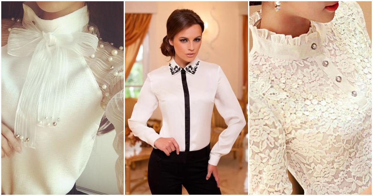 Бессмертная классика: вариации на тему белой блузки. Идеи фасонов и моделей