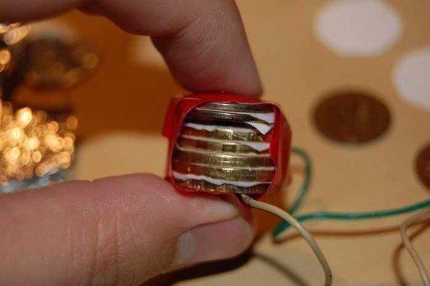 Как сделать Батарейку из монет.