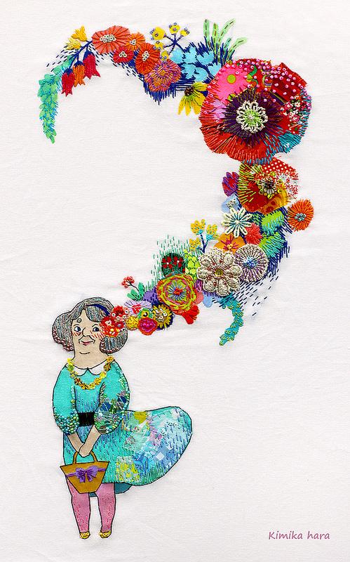Кимика Хара: удивительная вышивка