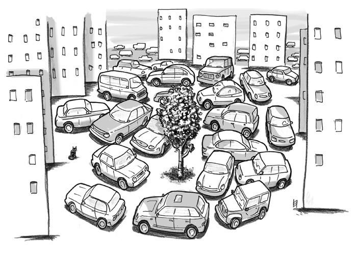 """Владелец BMW решил """"застолбить"""" персональное парковочное место во дворе"""
