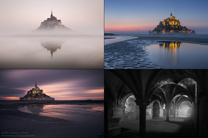 Замок Мон-Сен-Мишель во Франции