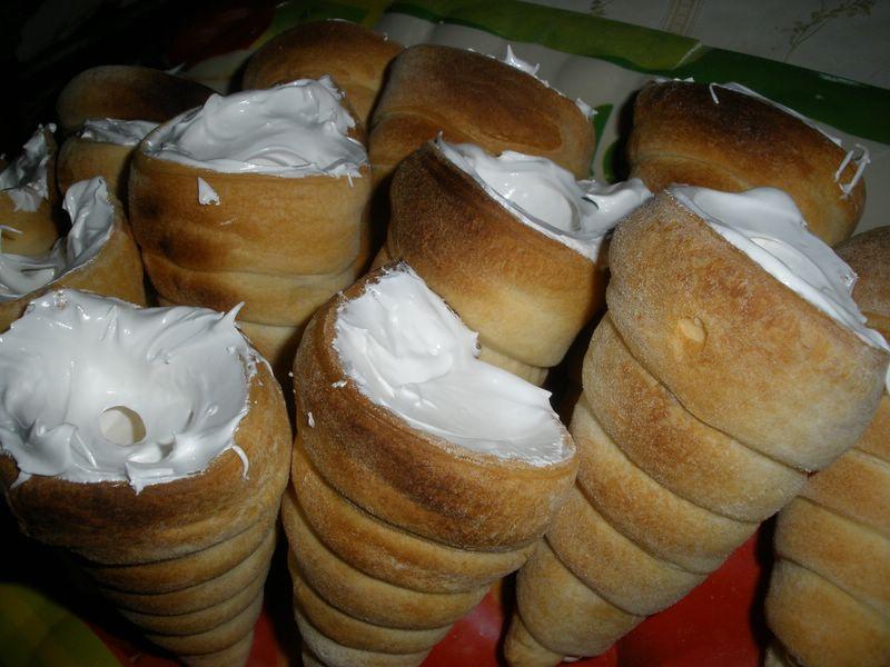 трубочки с белковым кремом рецепт