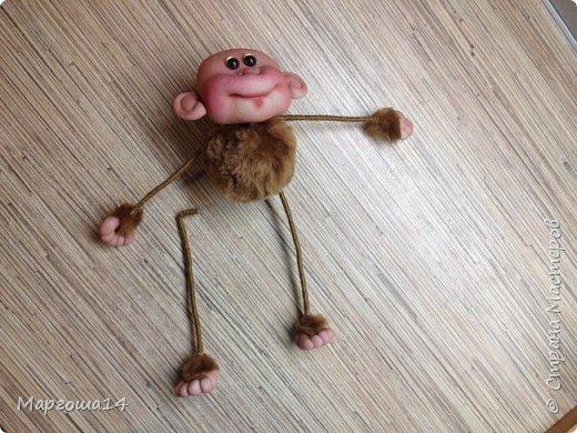 Игрушка Мастер-класс Новый год Шитьё МК по обезьянке Капрон Проволока Пряжа Ткань фото 23