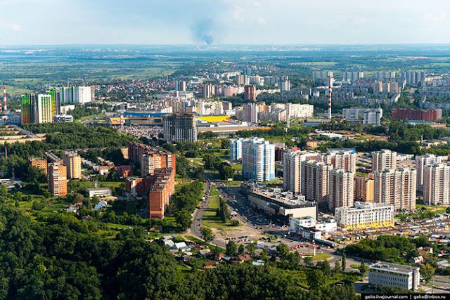 Нижний Новгород с вертолета (много фото)