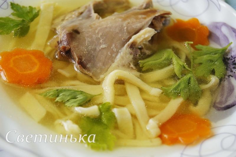 Домашняя лапша с курицей второе блюдо рецепт