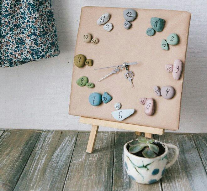 Часы из камней (diy)