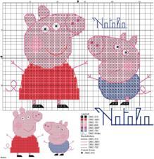 Схема свинки пеппы вышивка 717