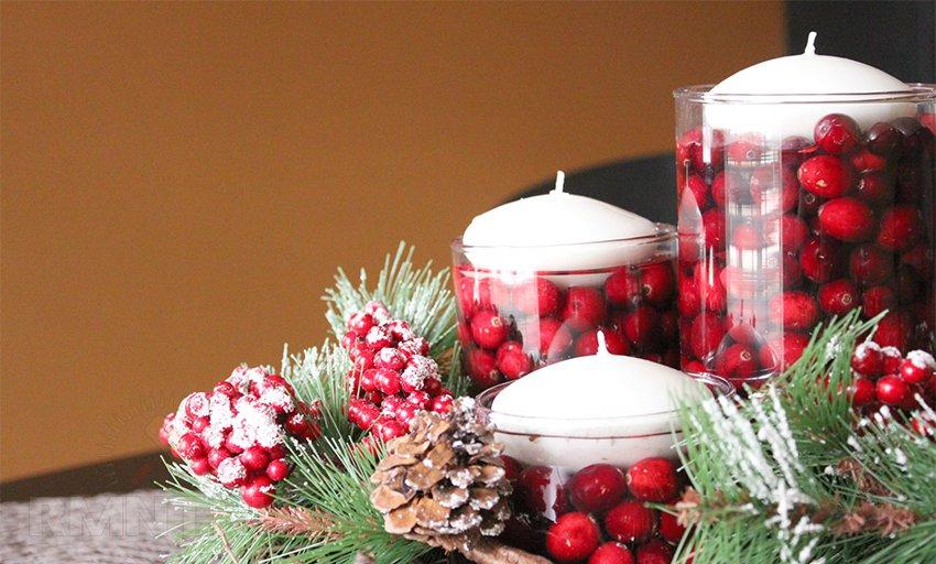 Новогодние композиции своими руками из свечей
