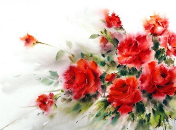 Художник Mohammad Yazdchi. Акварель