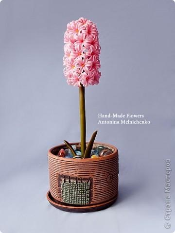 Цветы из холодного фарфора - Гиацинт. Подробный МК для начинающих