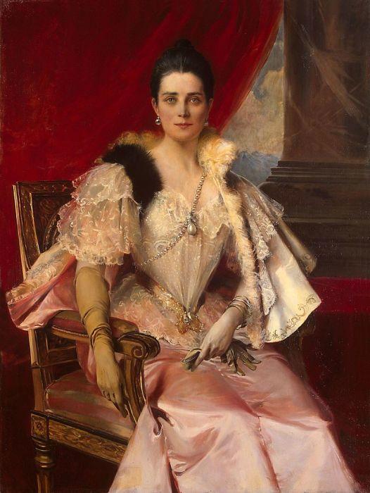 Франсуа Фламенг, портрет Зинаиды Юсуповой с фамильной жемчужиной «Пелегрина»