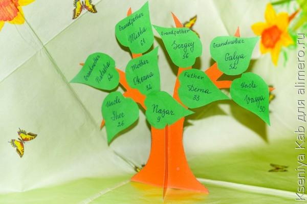 Семейное древо своими руками с детьми 11
