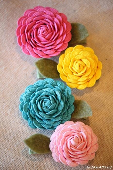 Цветы из тесьмы своими руками
