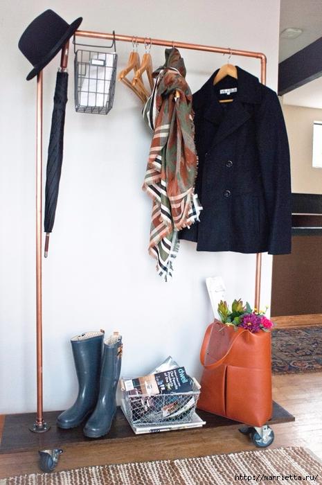 Креативная вешалка для одежды своими руками (8) (465x700, 255Kb)