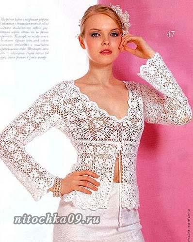 Блуза из квадратных мотивов
