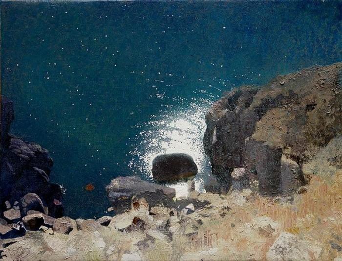 Камень на море