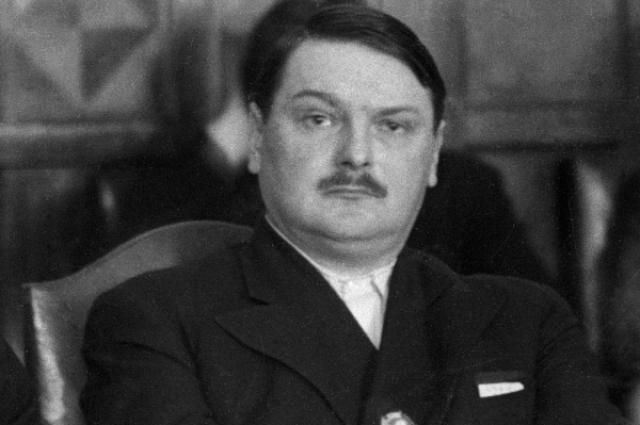 Cоветский государственный и партийный деятель Андрей Жданов.