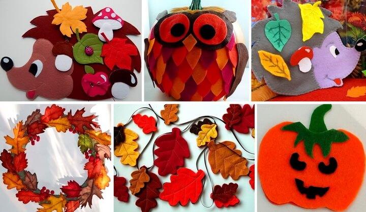 Осенние поделки из фетра