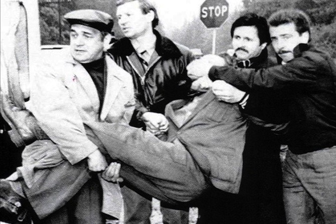 14. Сотрудники КГБ повязали шпиона. Подмосковье, 1985 г. исторические фотографии, история, фото