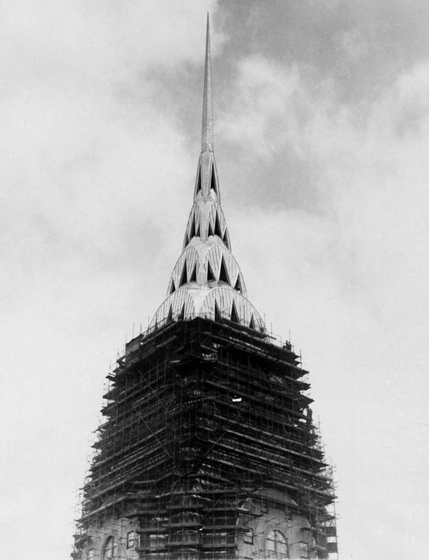 9. Крайслер-билдинг, Нью-Йорк, США, 1930 год достопримечательности, здания, старые фото, строительство