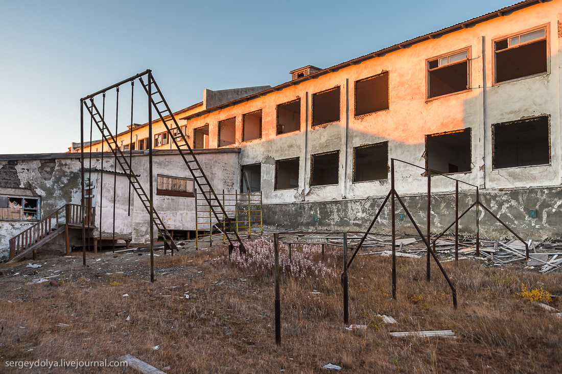 Заброшенный чукотский поселок Валькумей