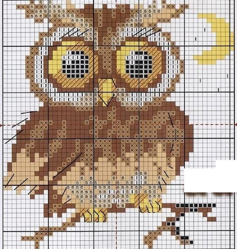 Схемы вышивок с совами