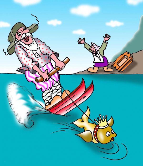 Людмила ведёт непримиримую борьбу с собственным весом и уже взяла в плен 20кг жира  (Карикатуры)