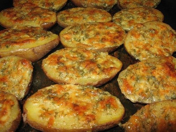 Вареная картошка в духовке
