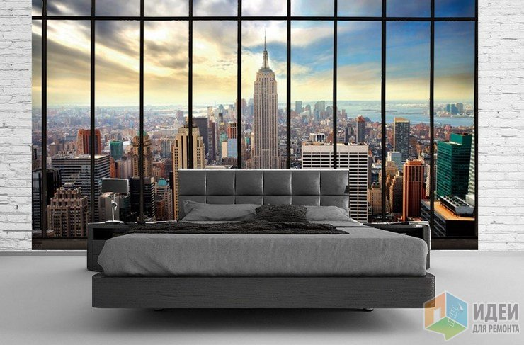 Панорамные обои, фотообои и фрески с городским пейзажем