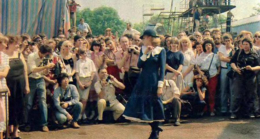 "Наталья Андрейченко на съёмках ""Мери Поппинс, до свидания!"", 1983 год"