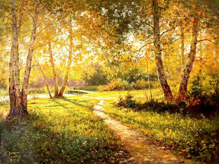 Пейзажи художника Hong Cheolung