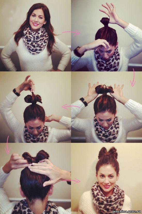 Как сделать причёску на короткие волосы бантик