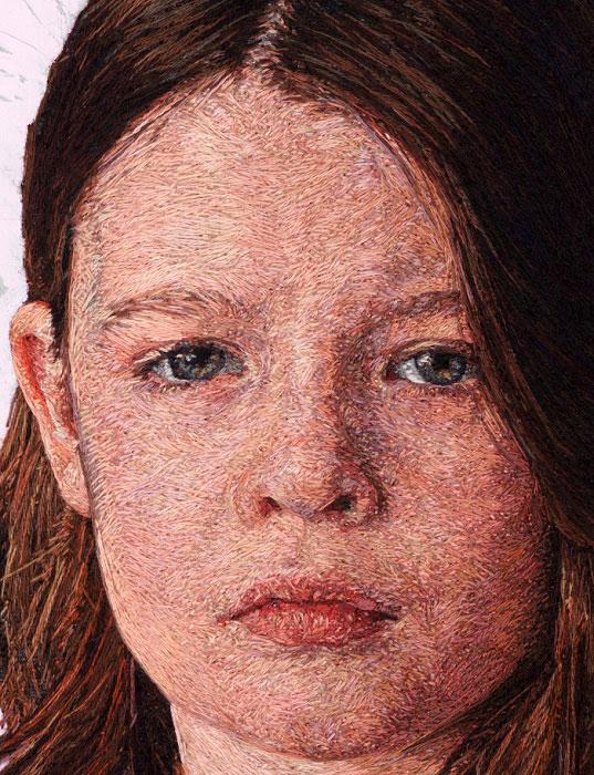 «Нитяная живопись»: потрясающая техника вышивания портретов