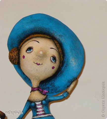 Куклы Папье-маше Муза и  поэт  Бумага фото 6