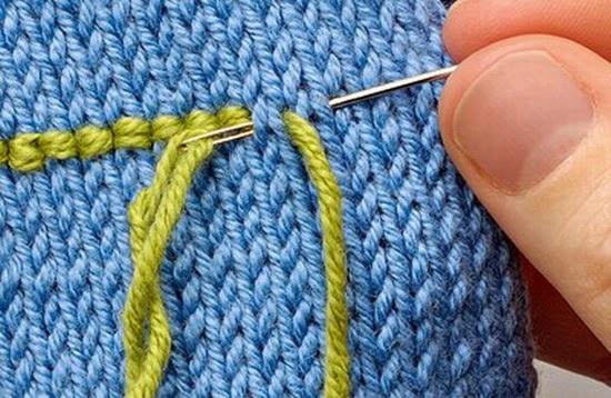 Простая вышивка по трикотажу