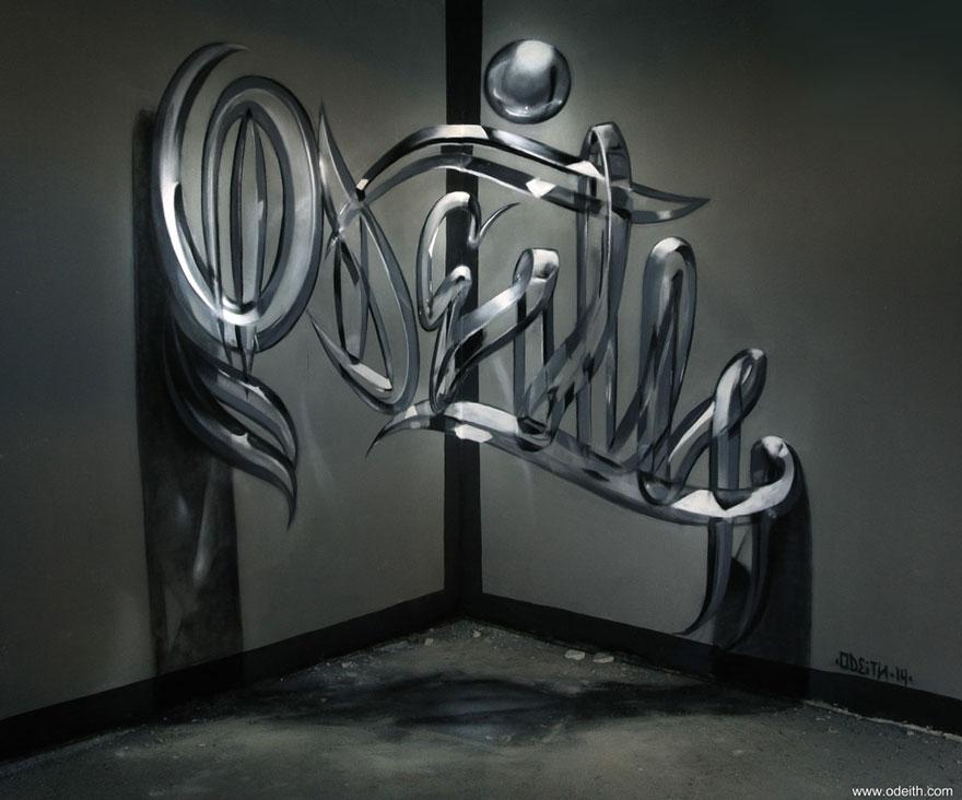 Удивительные 3D-граффити в Португалии граффити, португалия