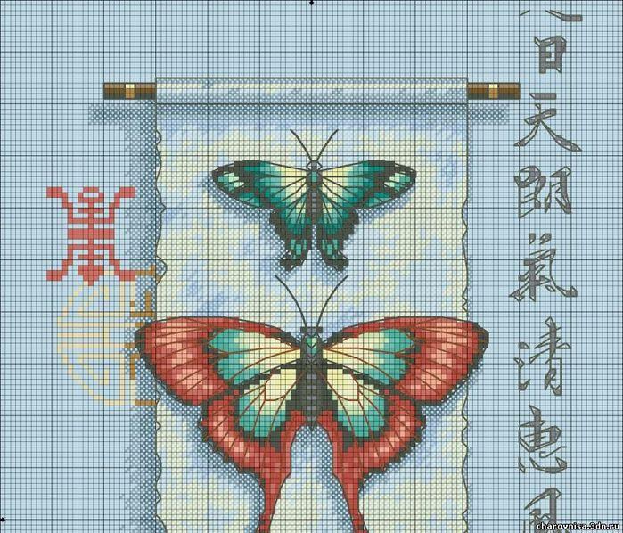 Бабочки вышивка к чему