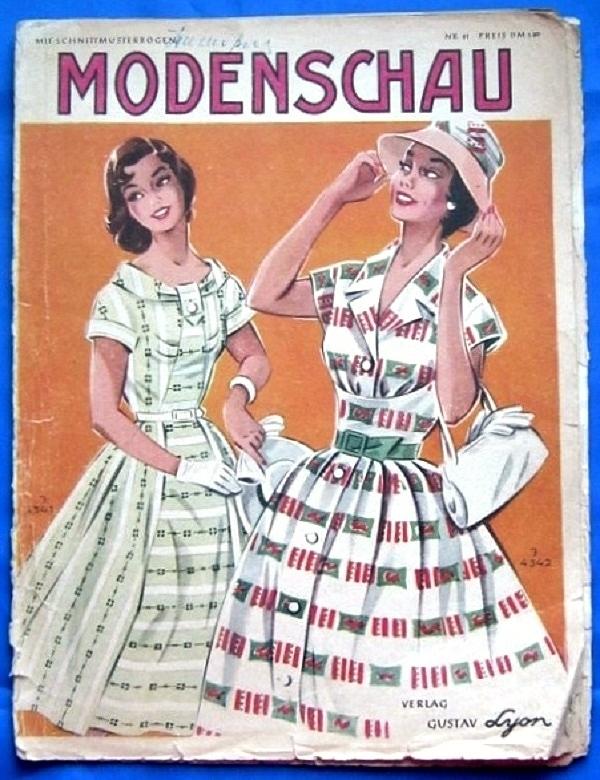 По страницам «Modenschau»: мода 50-х годов прошлого столетия. Продолжение